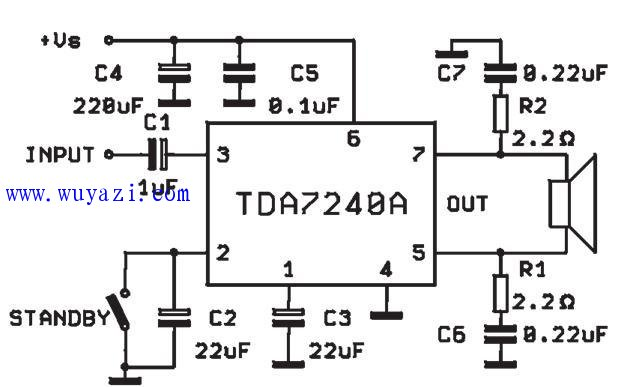tda7240btl功放电路图图片