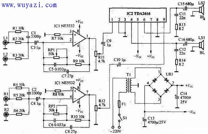 TDA2616功放电路图