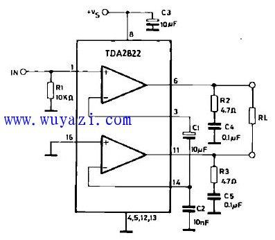 TDA7293功放电路图纸原理图 -RC 电路