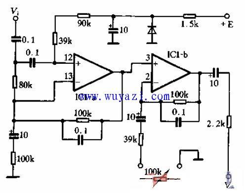 twh32构成的重低音模块电路