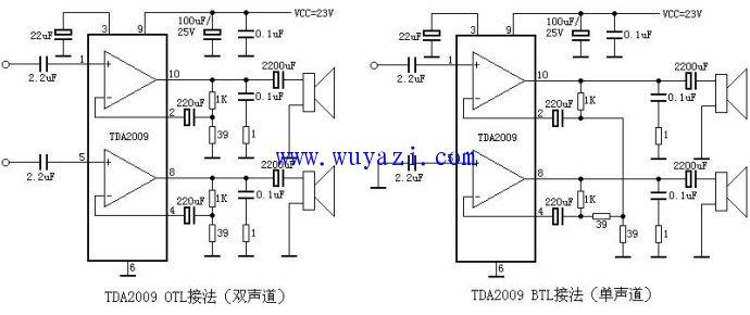 TDA2009引脚功能电压资料