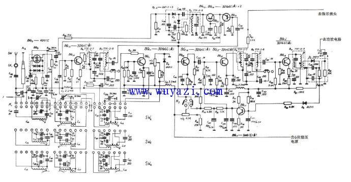 红灯735收音机电路原理图