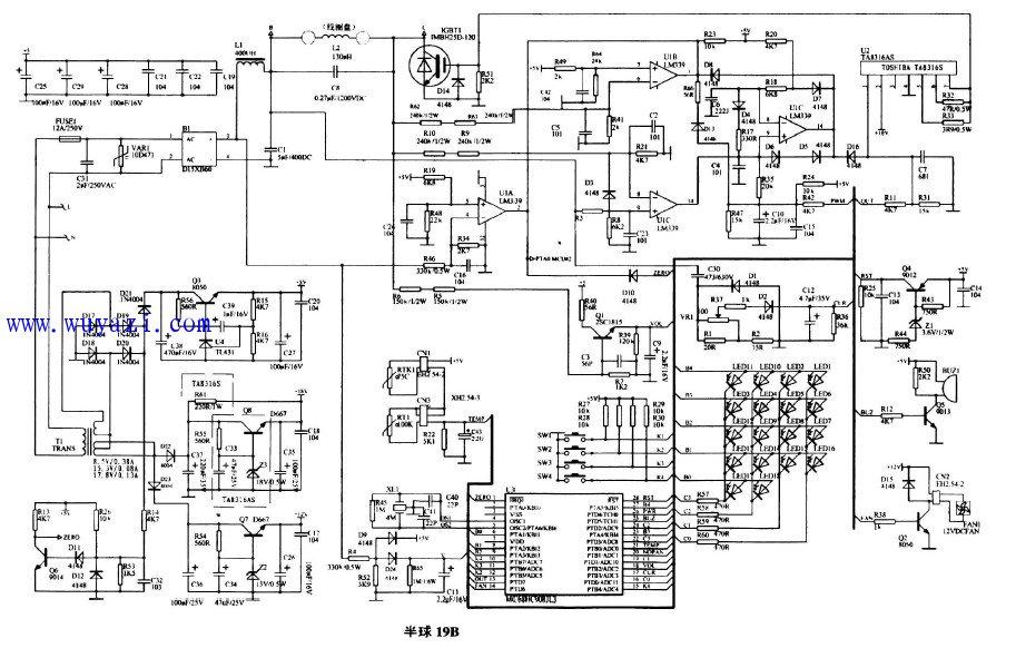 半球电磁炉电路图图片