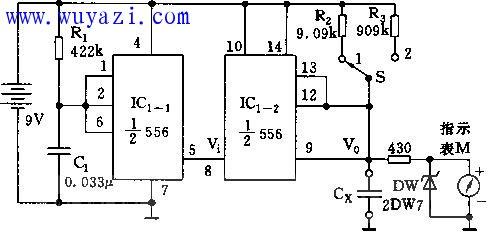 555转速(频率)电压转换器电路图