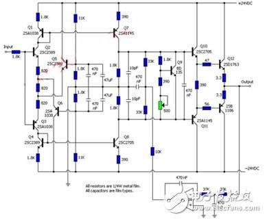电路图OPA2134和三极管等元件组成.-蓝牙耳机及其放大电路实用设图片