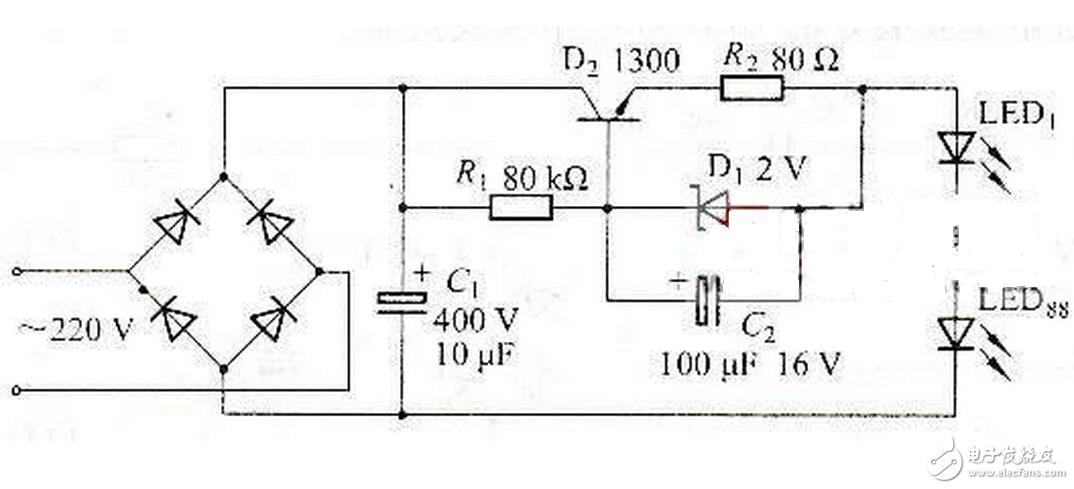 300的NPN三极管具体型号应该是MJE13003.其参数为耐压400V,最