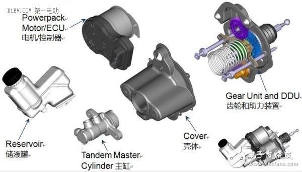 汽车电子 设计应用 > 几种基于真空助力的液压制动系统