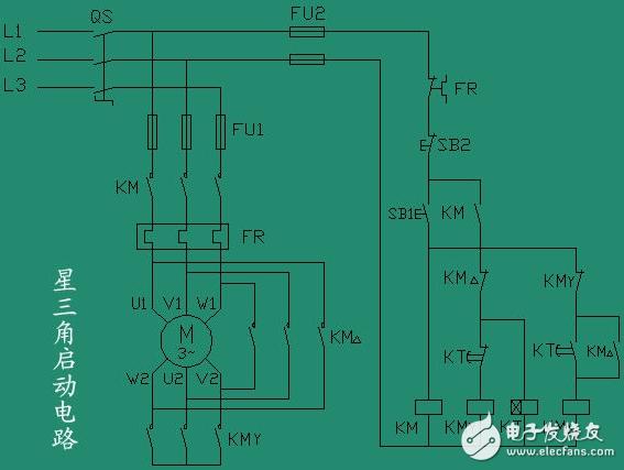 (这个很重要,也和简单,也很实用的降压启动,一般电机大于7.5千瓦,为了保护电压网就应该采取降压的方式。)   12 自耦降压      这也是很使用的降压启动控制线路。一般大于40千瓦的电机使用。