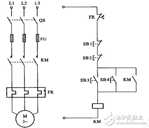 第五张 电动机的按钮联锁正反转控制电路原理图.-控制电机的几种控图片