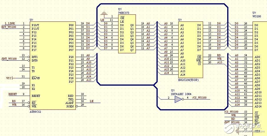 w5100网络接口电子电路设计图 —电路图天天读(160)