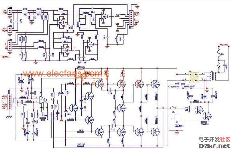 >重低音hi-fi级音响电路图  分享hi-fi级音响功率放大集成电路和重低