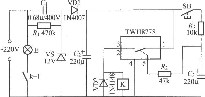 采用功率开关集成电路的延迟灯电路 3 控制电路