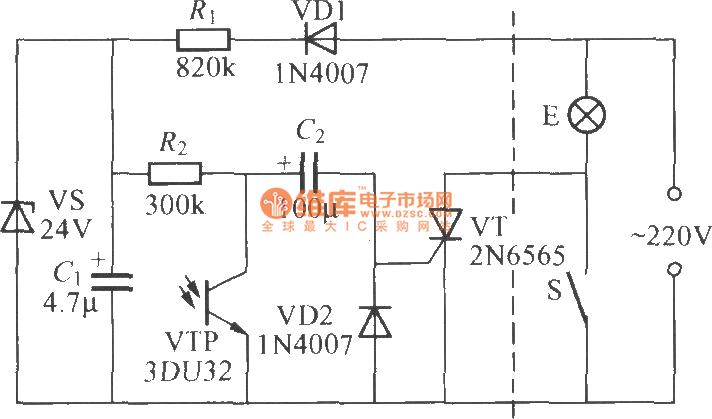 光控延迟灯电路 3 控制电路