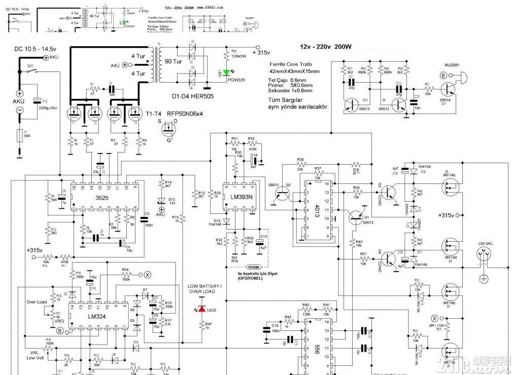 基于sg3525的逆变器电路图