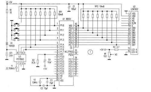 基于PCF8563时钟芯片的万年历制作