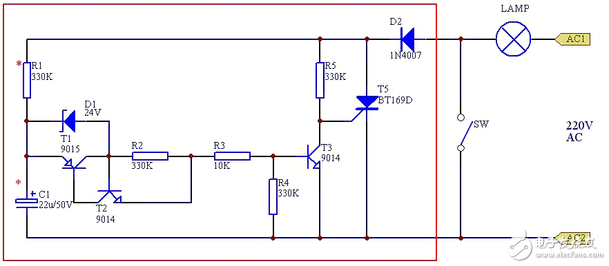 12v延时关闭电路图大全(可控硅/晶闸管/触摸延时开关电路详解)