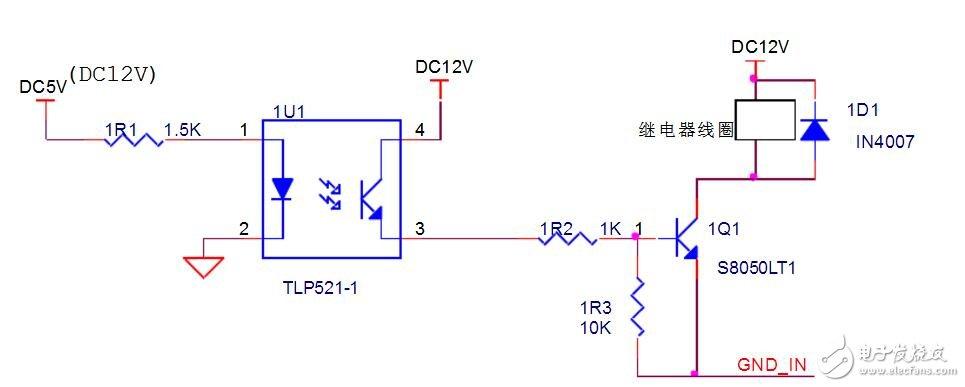 光耦驱动继电器电路图大全(光电耦合器/uln2803/开关电路)图片