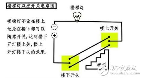 楼梯开关双控电路图大全 七款楼梯开关双控电路设计原理图详解图片