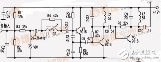 电子管发射机电路图大全(6pl电子管/调频发射机电路图