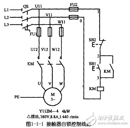 电动机自锁控制电路图大全 三相异步 自锁正转控制电路图详解图片