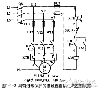 电动机自锁控制电路图大全(三相异步/自锁正转控制电路图详解)