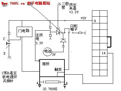 主板维修图纸——触发电路图