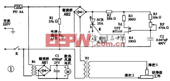 自制微型交流电焊机图片