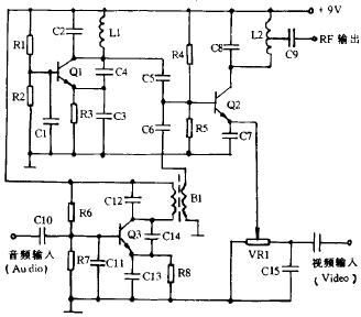 AV-RF转换器的制作