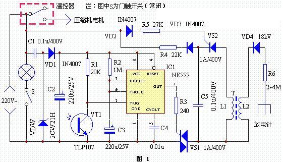 除臭 电子 电冰箱 vs 简单/负离子发生器电路的工作原理较简单,当VS导通后,220V交流电...