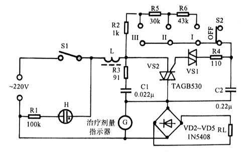 频谱多功能治疗仪电路