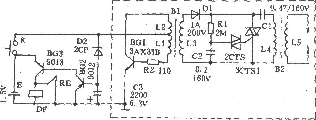 日立RM-1900电动剃须刀电路