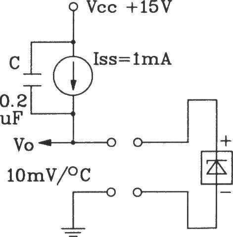TSV型温度传感器采用恒流源的测温电路图