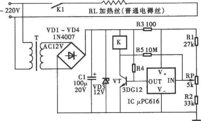 简易温控电路图