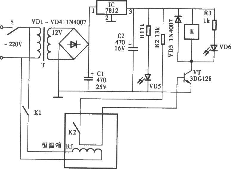造价低廉的温度控制器电路图