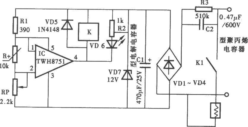 实用的恒温控制器电路图