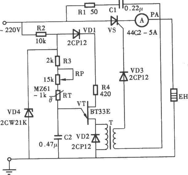 小型无触点恒温箱电路图