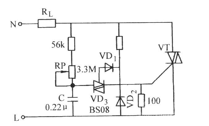双向晶闸管无滞后现象的相控电路图