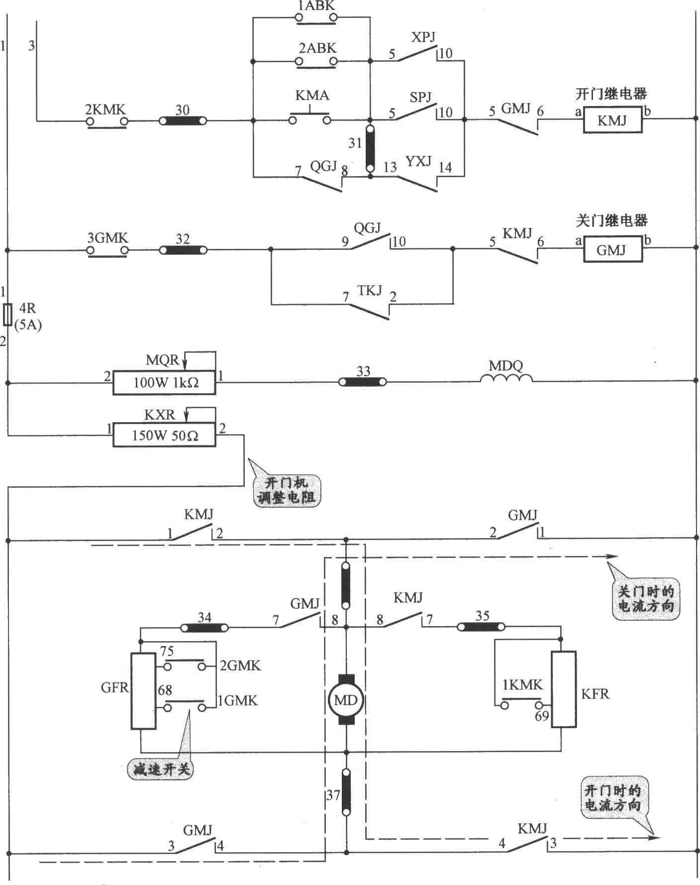 JKH1-771A电梯开门机电路图