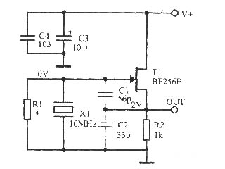低噪声正弦波晶体振荡器电路
