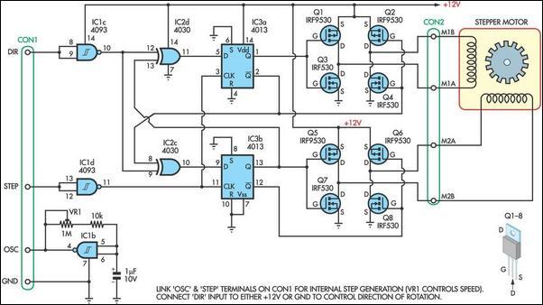 4线 步进电机驱动 电路 电路图 电子产品世界高清图片