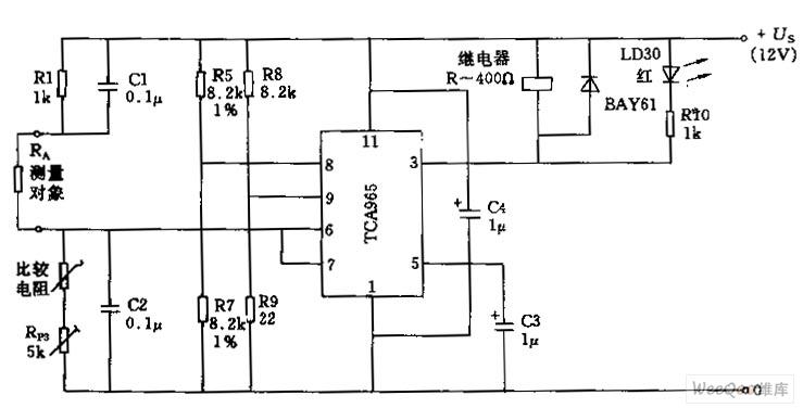 采用集成心路的电阻误差测量仪电路图