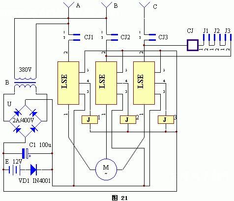 电动机缺相保护器电路图