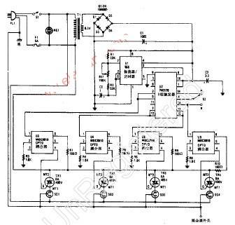 节目灯光序列发生器电路原理图