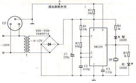 防静电电源插座电路图