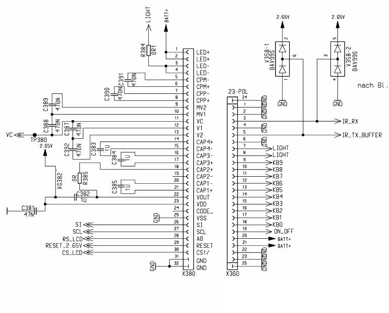 西门子6688液晶屏控制电路图