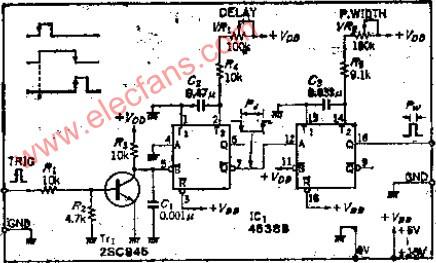 可识别超声波回波时间的脉冲发生电路