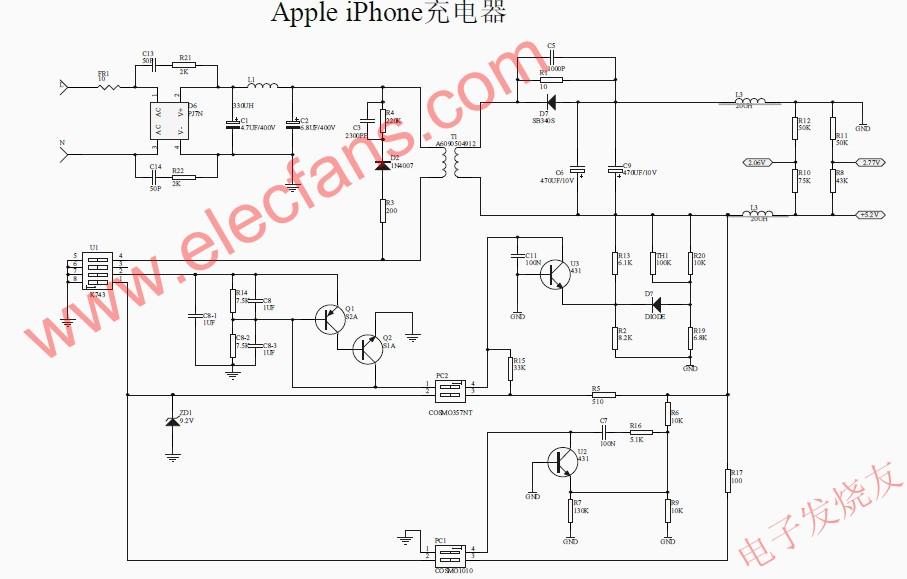 iphone充电器电路图