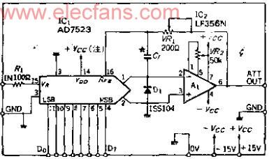 数字式电子衰减器电路图