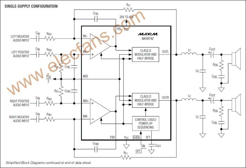 MAX9742应用电路