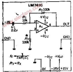 直流反相放大器电路及原理图片